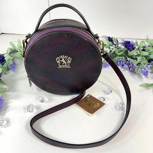 Pratesi Firenze Purple Round Vintage Leather Purpl